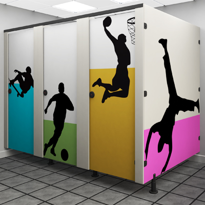 senior toilet cubicle - sport Theme