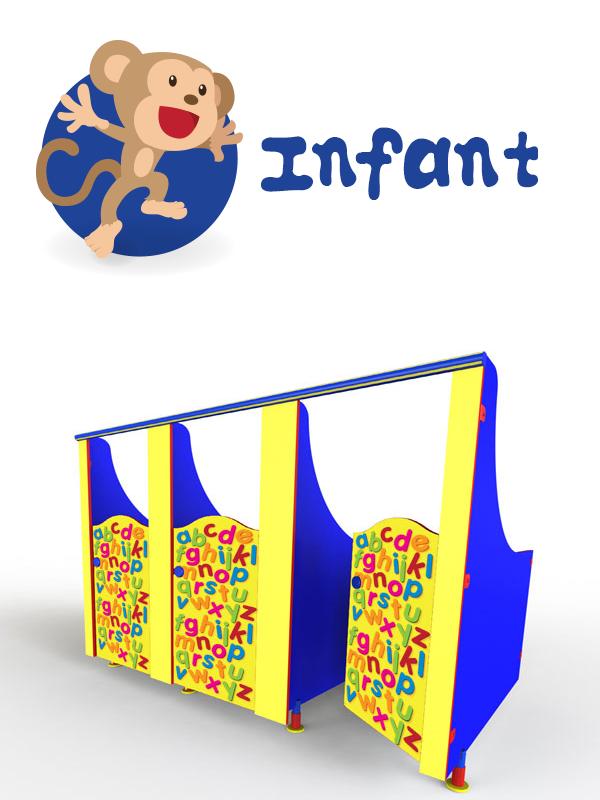 infant school toilet cubicles