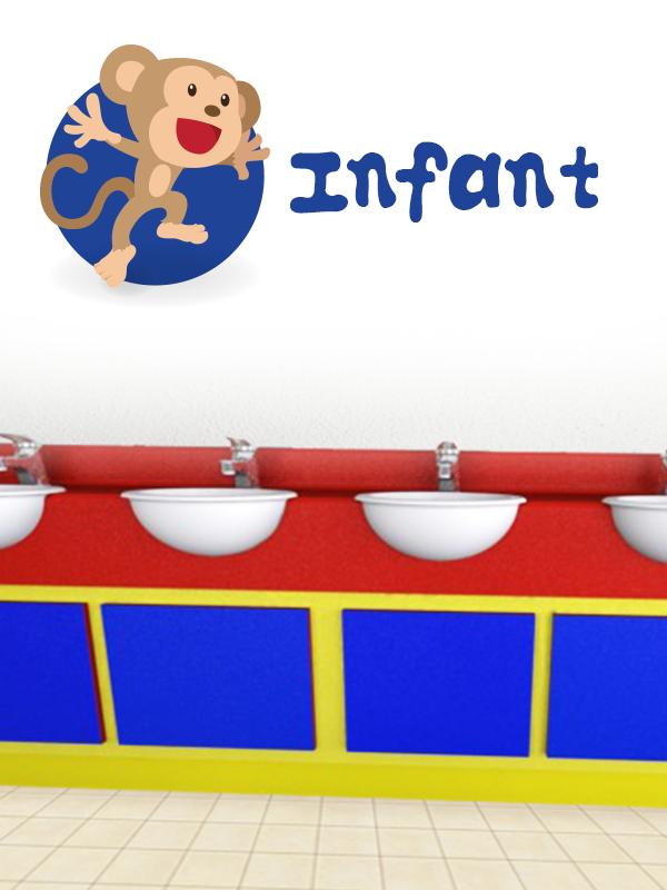 infant school vanity units